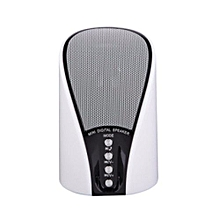 WS- 133- Mini Bluetooth Wireless Stereo Speakers FM, Memory Card, Bluetooth, USB - White