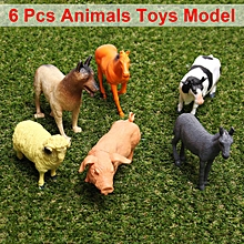 6 Types Big Animals Toy Model Action Figures On The Farm Kid's Gifts