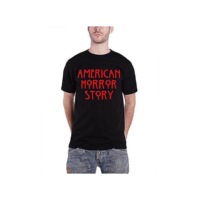 e80539ba0b06 Custom Personality T-shirt American Horror Story T Shirt Classic Mens Black  Short Sleeve Summer