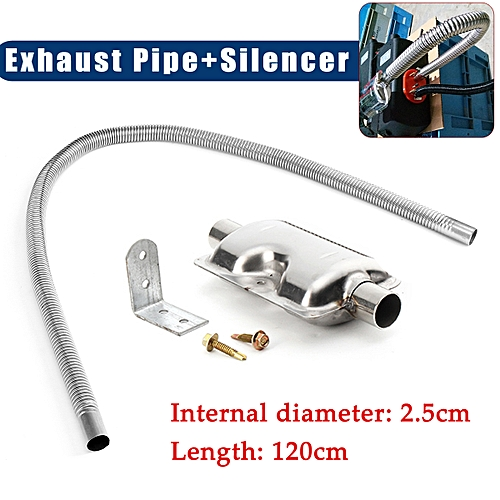 120cm Exhaust Pipe + 24mm Silencer Muffle For Car Parking Air Diesel Heater  UK