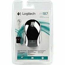 Wireless Mini USB Mouse, M187 - Black