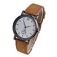 Watch Women's Fashion Casual  Leather Strap Analog Quartz Round Watch-Brown