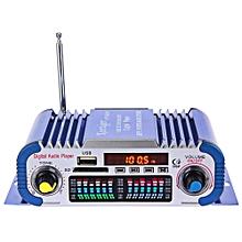 HY601 Hi-Fi 12V Digital Auto Car Stereo Power Amplifier Sound Mode LED Audio Music Player Support USB MP3 DVD SD FM - blue