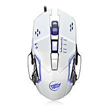Warwolf Q8 Wired Gaming Mouse Adjustable DPI Colorful LED Light - WHITE