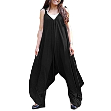7e3540d2bf0 Celmia Womens Ladies Fashion Spaghetti Strap V-Neck Rompers Jumpsuits Casual  Loose Wide Leg One