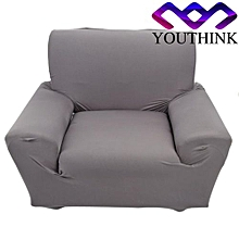 Single Sofa Slipcovers Anti-mite Soft Couch Slipcovers Grey 1 Seater