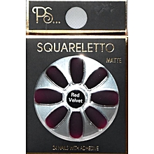 Squareletto Matte 24 Nails with Adhesive - Red Velvet