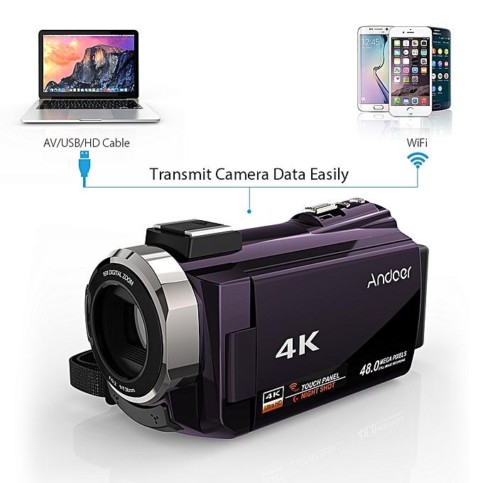 ... Andoer 4K 1080P 48MP WiFi Digital Video Camera Camcorder ...
