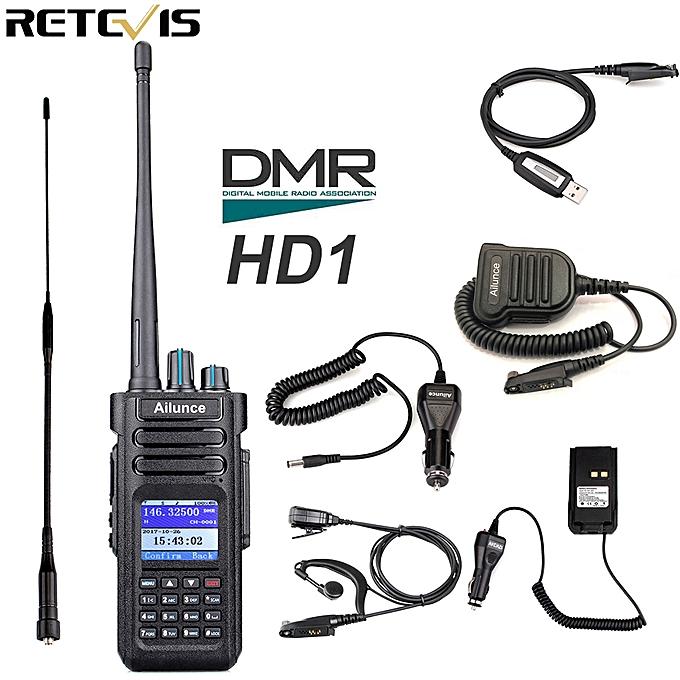 Ailunce HD1 Dual Band DMR Radio Digital Walkie Talkie (GPS) VHF UHF Hf  Transceiver Ham Radio Amateur +Accessories AKESI