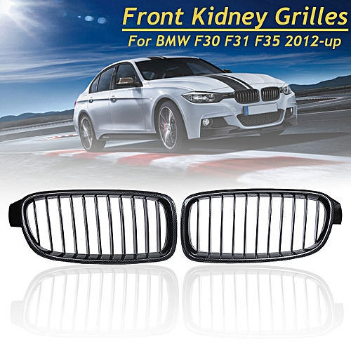 Generic Carbon Fiber Front Kidney Grill Grille For Bmw F30 F31 F35 3