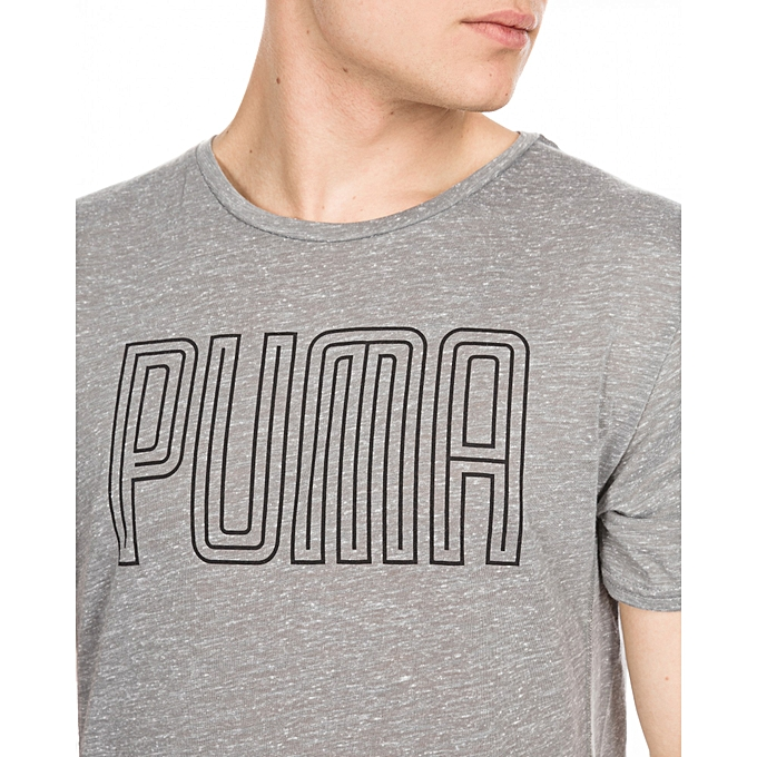 d719d5f5b PUMA Drirelease Novelty Graphic T-shirt Grey Men @ Best Price Online ...