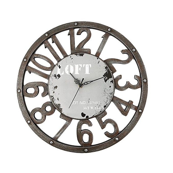 Surprising Home New Retro Style Usa American Vintage Plate Number Home Decor Wall Clock Gray Download Free Architecture Designs Rallybritishbridgeorg