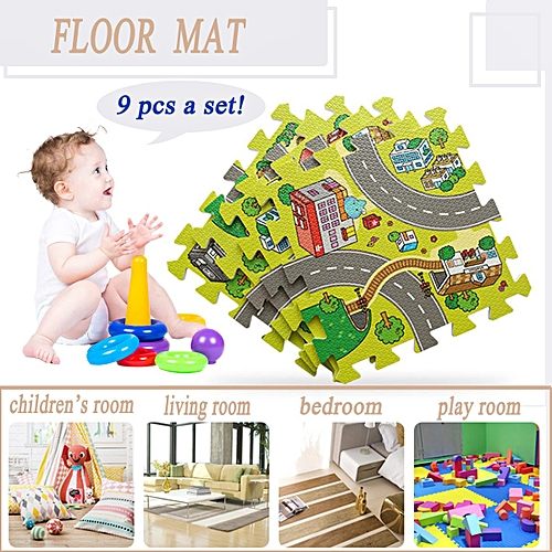 Generic Kids Baby Crawling Car City Traffic Game Floor