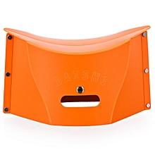 Portable Multifunction Foldable Plastic Stool Bench Storage Bag Folder orange