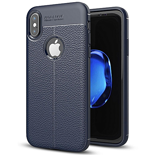 buy online 2089d 13083 iPhone X Case, Shockproof Silicone PU Leather Back Cover Soft TPU Phone  Casing