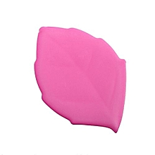 Soft Silicone Leaf Shape Water Drink Pocket Cup -Pink