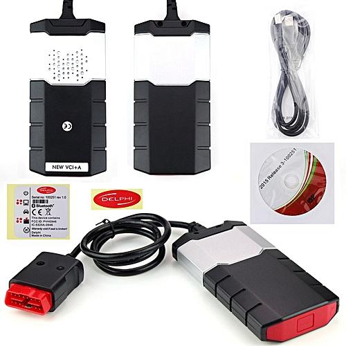2015R3 Car Truck OBD Diagnostic Scanner Kits CDP USB For DELPHI DS150E black
