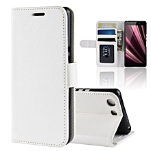 R64 Texture Single Fold Horizontal Flip Leather Case for Sony Xperia XZ4 Compact, with Holder & Wallet & Card Slots & Photo Frame (White)