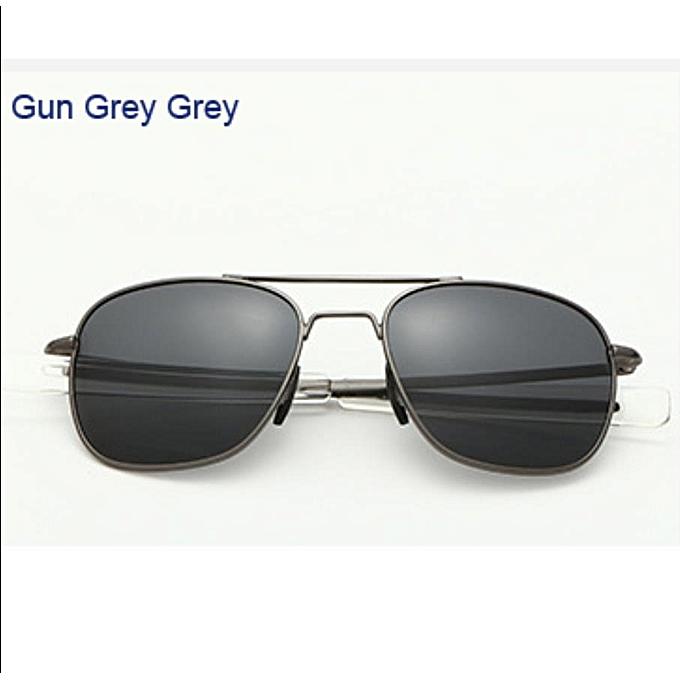 733bc4d37ef Generic Men Classic Design Pilot Sunglasses Fashion Twin-Beams Coating  Mirrored Sunglasses Mens Glasses Eyewear A285-grey black