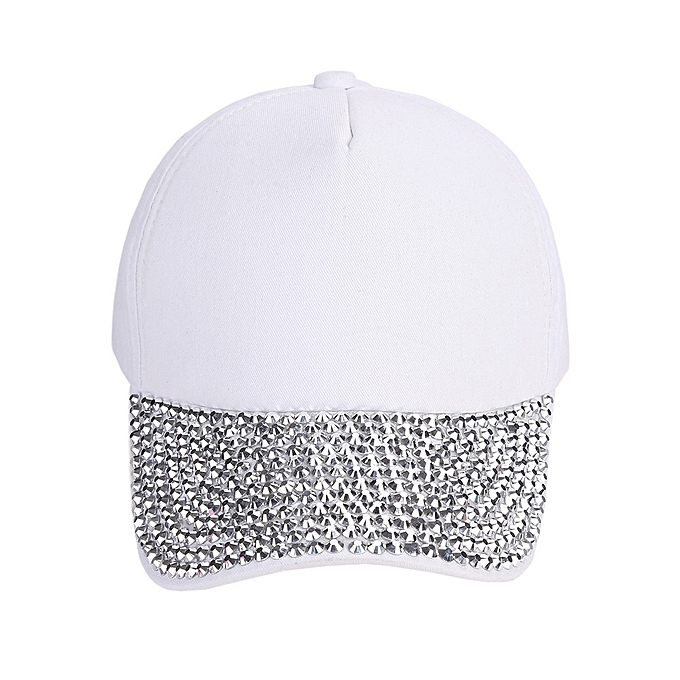 3ca093671ff69 ... Zetenis Womens New Fashion Baseball Cap Rhinestone Paw Shaped Snapback  Hat -White