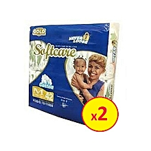 Baby Diapers Medium Gold - Count 84 (2 packets Medium each 42 count )