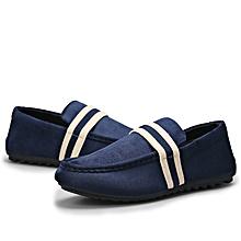 Men's British Lazy Man Boat Doug Pedaling Shoes-Blue