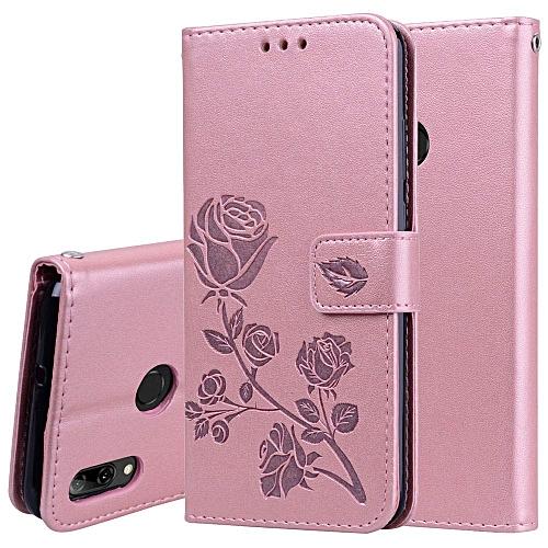 low priced 328db ee7bd Huawei P Smart 2019 Case Rose Pattern PU Leather Wallet Folio Flip Card  Slots Kickstand Case Cover for Huawei P Smart 2019,Rose Gold