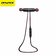 Awei AK8 Waterproof Magic Magnet Attraction Bluetooth 4.1 Sports Earphones Neckband with Microphone On-ear Control JY-M