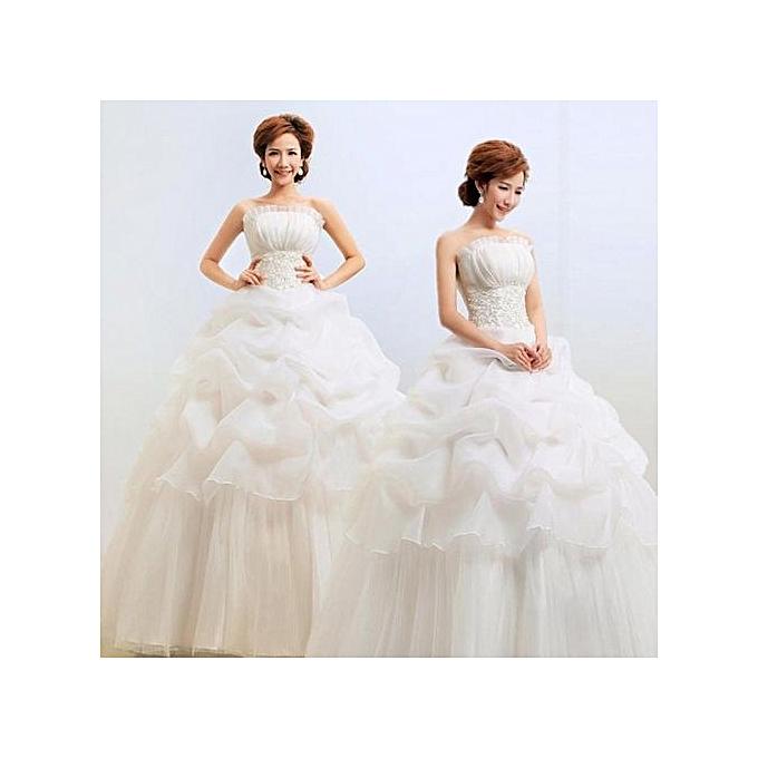Buy Fashion Sweet Wedding Dress Lace Flower Beading Crystal Wedding ...