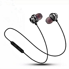 Binaural Wireless Bluetooth Metal Magnetic Stereo Sport Headphones-Array