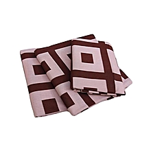 Flat Bedsheet Set - Brown & Beige Multicoloured