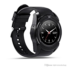 "V8 Smart Watch 1.22"" Round Screen MTK6261 IP65 Android Bluetooth Smart Watch With Sim card Toolkit - Black"