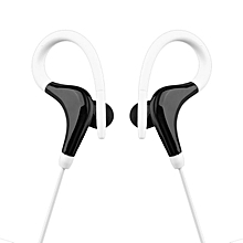 Ear Hook Sports Running Headphones KY-010 Stereo Bass Music Headset white