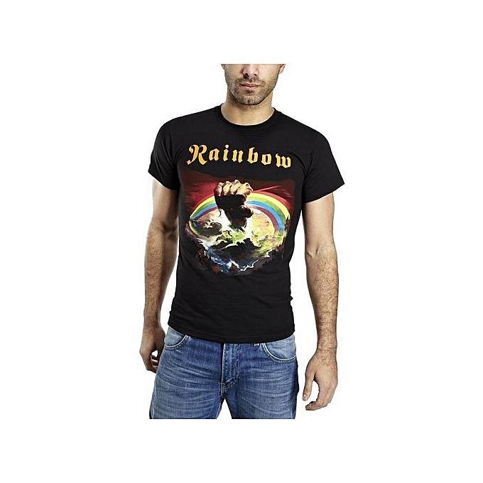 ab53d7c53841 Rainbow Rising Mens T-Shirt Fashion Men s Cotton T-shirt Men Summer Tshirt