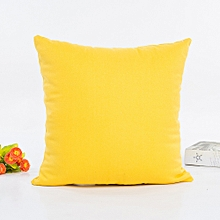 Africanmall store Cotton Pillow Sofa Waist Throw Cushion Cover Home Decor Cushion Cover Case-Yellow