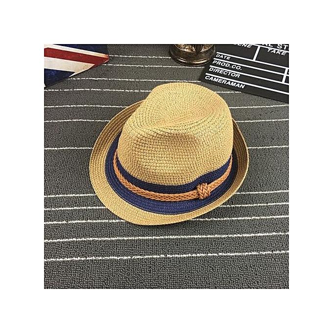 Fashion Zetenis Floppy Foldable Ladies Women Straw Beach Sun Summer Hat Wide Brim -Khaki