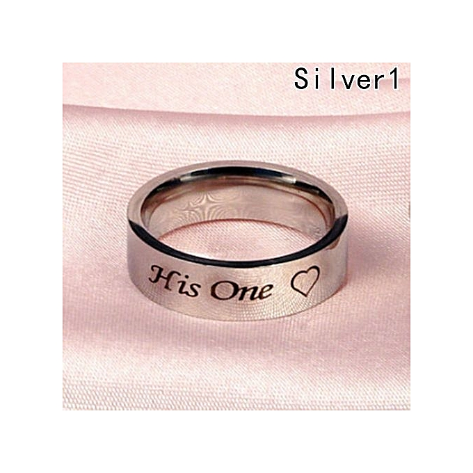 1 Pc His One Her Only Ring Stainless Steel Rings For Women Men Promise