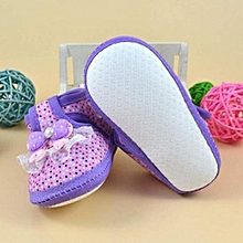 bluerdream-Baby Bowknot Boots Soft Crib Shoes- Purple