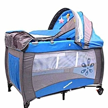 Baby Travel Cot, Foldable Playpen, Baby Crib - Blue