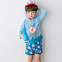 62942859c8d9d (Tops+Shorts) Baby Boys Swimwear Two-piece Snorkeling Diving Suit Child  Swimsuit
