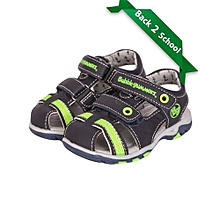 Navy/green Velcro Straps Boys Open Shoes