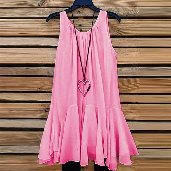 eb8fe67e98a4 Womens Plus Size Chiffon Vest Shirt Sleeveless Blouse Casual Tank Tops  T-Shirt