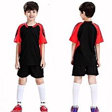 Customized Blank Children Boy's  Brand Football Soccer Team Training Jerseys Uniform-Black