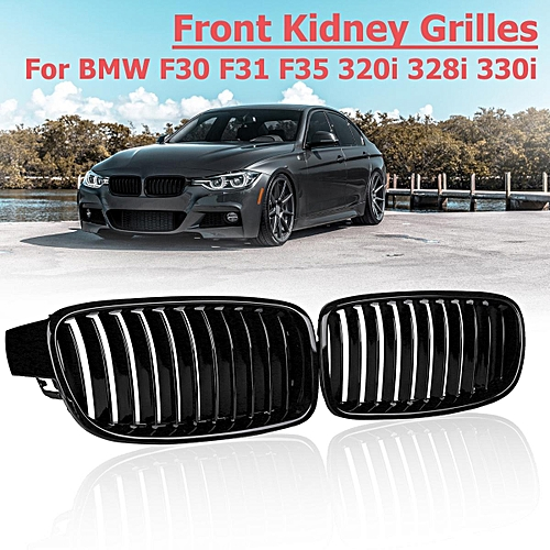 Buy Generic Pair Gloss Black Front Kidney Grilles For Bmw F30 F31