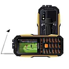 SERVO X7 2.4'' 4000mAh Antenna Analog TV Voice Change Laser Flashlight OTG 3 SIM Card Feature Phone