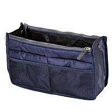 Multi-function Handbag Purse Insert Mp3 Phone Cosmetic Storage Bag DB-dark blue