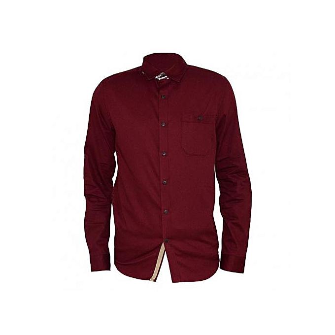 Maroon Men's Formal Shirt
