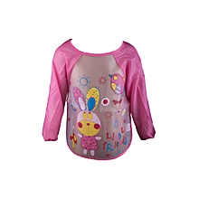 Baby Toddler Kids Long Sleeve Plastic Wipe and Go Bib /Feeder .