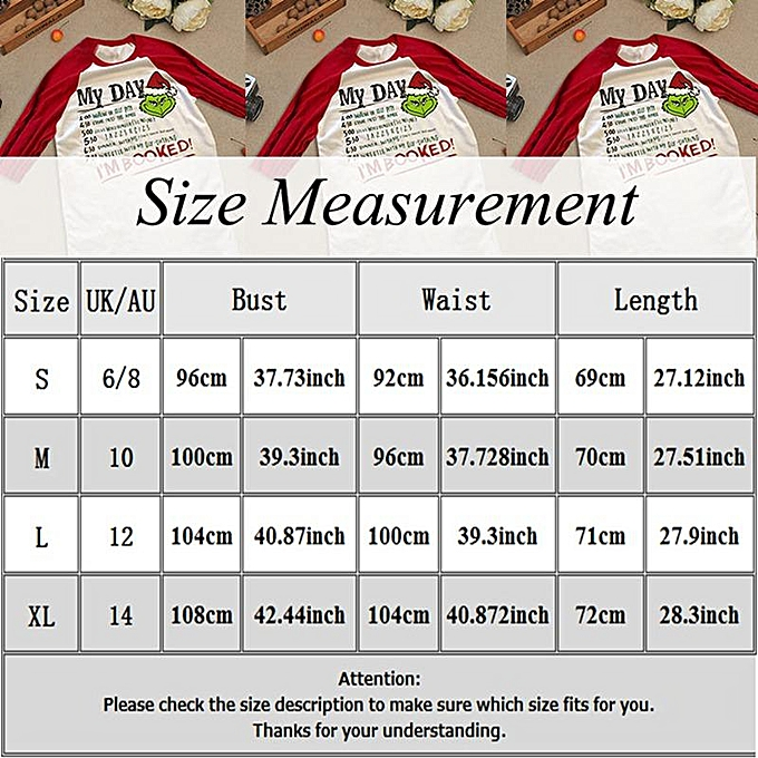 993a1bb50cc50a Fashion Christmas Xmas Grinch I'M Booked Crew Neck Long Sleeve Top T ...