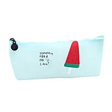 Ice Cream Kids Gift School Pencil Pen Case Cosmetic Makeup Storage Bag Purse